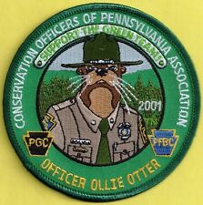 Pa Pennsylvania Fish Game Commission Premier Issue 2001 Copa Ollie Otter Patch