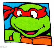 "3""-3.5"" Tmnt  mutant ninja turtles michaelangelo hand fabric applique iron on"