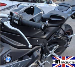 Pair of CNC Bar End mirrors BMW S1000r genuine quality pair HJR Products