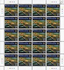 RAF No.87 Squadron HAWKER HURRICANE WWII Aircraft Stamp Sheet / 2013 Gibraltar