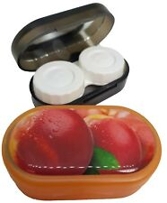Funky Fruit Mirror Case Contact Lens Soaking Storage Case UK MADE - Peach