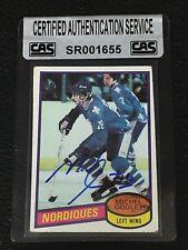HOF MICHEL GOULET 1980-81 TOPPS ROOKIE SIGNED AUTOGRAPHED CARD #67 CAS AUTHENTIC