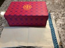 "Tory Burch Pink Logo Empty Shoe Box / Gift Box - (11"" x 7"" x 4.5"" ) + Dust Bag"