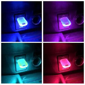 2Pcs In-car Lighting LED Lights USB Serial Lights Colourful LED Night Lights J
