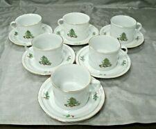 Tienshan HOLIDAY HOSTESS Christmas Tree 6 Tea Coffee Cup & Saucer Sets Disc'd #3