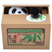 Automatic Stealing Money PANDA Kitty Piggy Bank Coin Saving Box Case Gift US