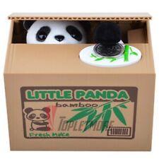 Automatic Stealing Money Panda Kitty Piggy Bank Coin Saving Box Case Gift Us