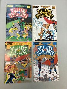 Villains And Vigilantes 1-4 Complete Set 1 2 3 4 Eclipse Comics 1986