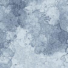 Tonal Denim Blue Burlap Textured Look, Oh My Stars, Benartex Fabric (By 1/2 yd)~