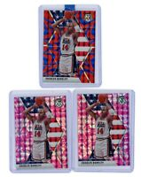 2019-20 Panini Mosaic Team Usa Charles Barkley Blue Pink Lot of 3