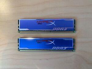 8 Go (2x 4 Go) Kingston Blue HyperX DDR3 Ram 1600MHz