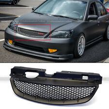 For 04 05 Civic Honeycomb T R Style Matte Black Front Mesh Hood Grill Grille Fits 2004 Honda Civic