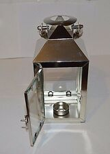 lantern stainless steel hanging garden tea light candle holder glass panels