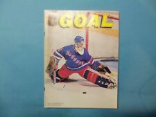 1989 Program Pittsburgh Penguins vs New York Rangers  John Vanbiesbouck on cover
