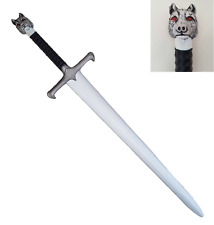 "100% LARP SAFE JON SNOW GAME of THRONES LONG CLAW Sword Foam Cosplay 43"" Wolf"