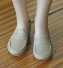 Franklin Mint Princess Diana Casual tan loafers shoes fit 15in vinyl doll Revlon