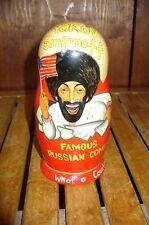 Russian Hand Painting Wooden Nesting Doll 5 pc. Yakov Smirnoff .Russian Comedian