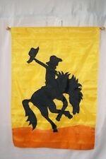 "28x40 Embroidered Sewn Rodeo Cowboy Appliqued Nylon Garden Flag 28""x40"""
