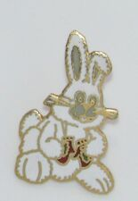A41 * VINTAGE PIN BD CARTOON BUNNY CUTE 1.1""