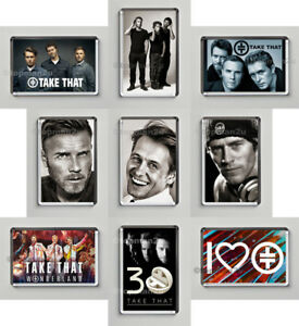 New SET OF 9 Quality Fridge Magnets, Take That, Gary, Mark, Howard, 30yr Tour