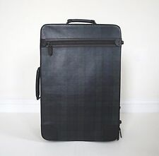 $4500 RALPH LAUREN BLACKWATCH TARTAN Calfskin Business Travel Trolley Case Bag