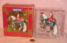1999 Breyer Father Christmas Ornament, Feature Santa On A Grey Andalusian