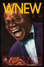Rare Original WNEW Louis Armstrong New York Subway Poster - Clean Not Folded