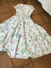 LAURA ASHLEY. SO PRETTY .FLORAL LADIES VINTAGE  FULL LENGTH DRESS -SIZE 10