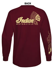 INDIAN MOTORCYCLE GRAPHIC  T-SHIRT MAROON COLOR LONG SLEEVE