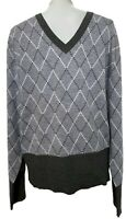 NEW, BROOKS BROTHERS BLACK FLEECE MEN'S GRAY V-NECK WOOL SWEATER, BB4, $600