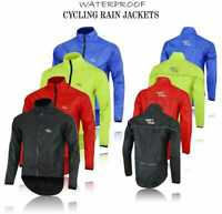Mens Cycling Waterproof Rain Jacket Hi Visibility Running Full Sleeve Top Coat