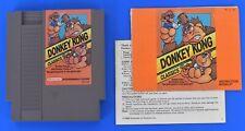 Nintendo NES Donkey Kong Classics Cartridge Manual Genuine Authentic R3 Clean
