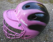 Wilson A5225 Youth Pink/Black Helmet Size 6 1/8 - 7 1/4 w/ Face Sheild
