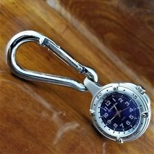 Vintage Remington Stainless Steel Clip On Pocket Watch 40MM