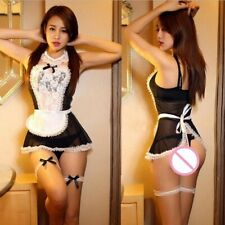 French Maid Sexy Lingerie Cosplay Outfit Costume Fancy Dress Women Lace 8-10