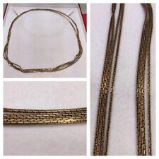 cadena larga / Collar 835 plata cadena de plata bañado en oro joyería plata 2m