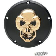 3D Skull Cubierta del embrague Oro Negro para Harley Davidson Twin Cam 99 hoy