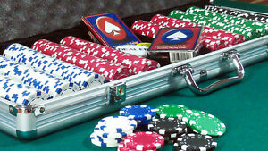 TEXAS HOLD'EM POKER SET 500pc 11.5g DICE CHIPS PLAYING CARDS ALUMINIUM CASE NEW