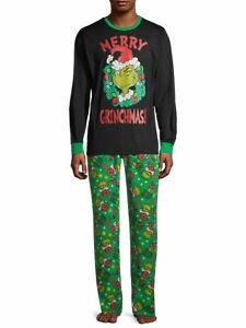 The Grinch Men's Pajamas Set Shirt Pants Size 3XL 3X Big & Tall Dr Seuss NEW NWT
