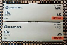 New 2 box EcoSmart 40-Watt Non-Dimmable LED Light Bulb(4-Bulbs/Per box, 8 bulbs)