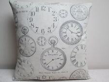 "Fryetts Vintage Clocks Shabby Chic Cushion Cover 16"""