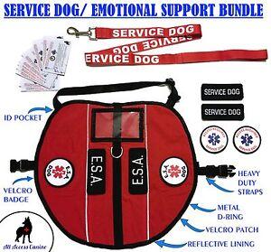 Service Dog & Emotional Support Animal ESA Vest Pocket Harness ALL ACCESS CANINE