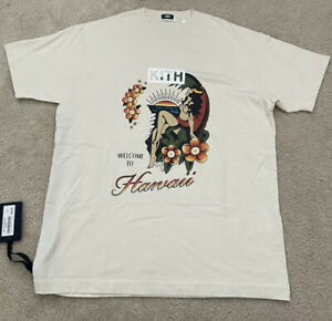 KITH Shirt Exclusive Welcome to Hawaii Vintage Waffle Cream Size Small RARE🤙