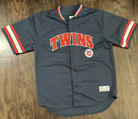 Minnesota Twins MLB Baseball #7 Joe Mauer Blue Sewn Jersey Mens Size XL