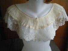 Antique19c Bertha shoulders Collar combo HM design Valenciennes lace & silk
