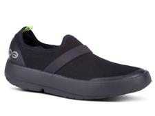 Oofos OOmg Slip- On Tennis Shoe- Black/Black