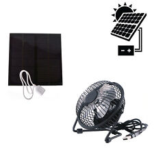 Outdoor Solar Energy Panel Powered With USB Mini Fan for Camping Home Cooling