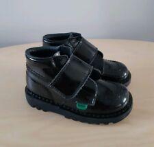 KICKERS Kids Boys / Girls Black Patent Leather Boots__EUR 25 / UK 8 Infant