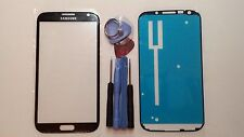Black Samsung Galaxy Note 2 Genuine Glass Front Screen Lens Tools + Adhesive