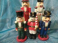5 VINTAGE NUTCRACKER SHAPED CANDLES  (7G128)